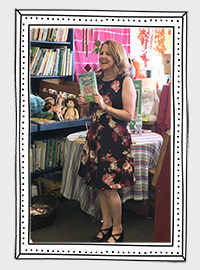 Dana's first book release event at Once Upon a Time bookstore in Montrose, CA